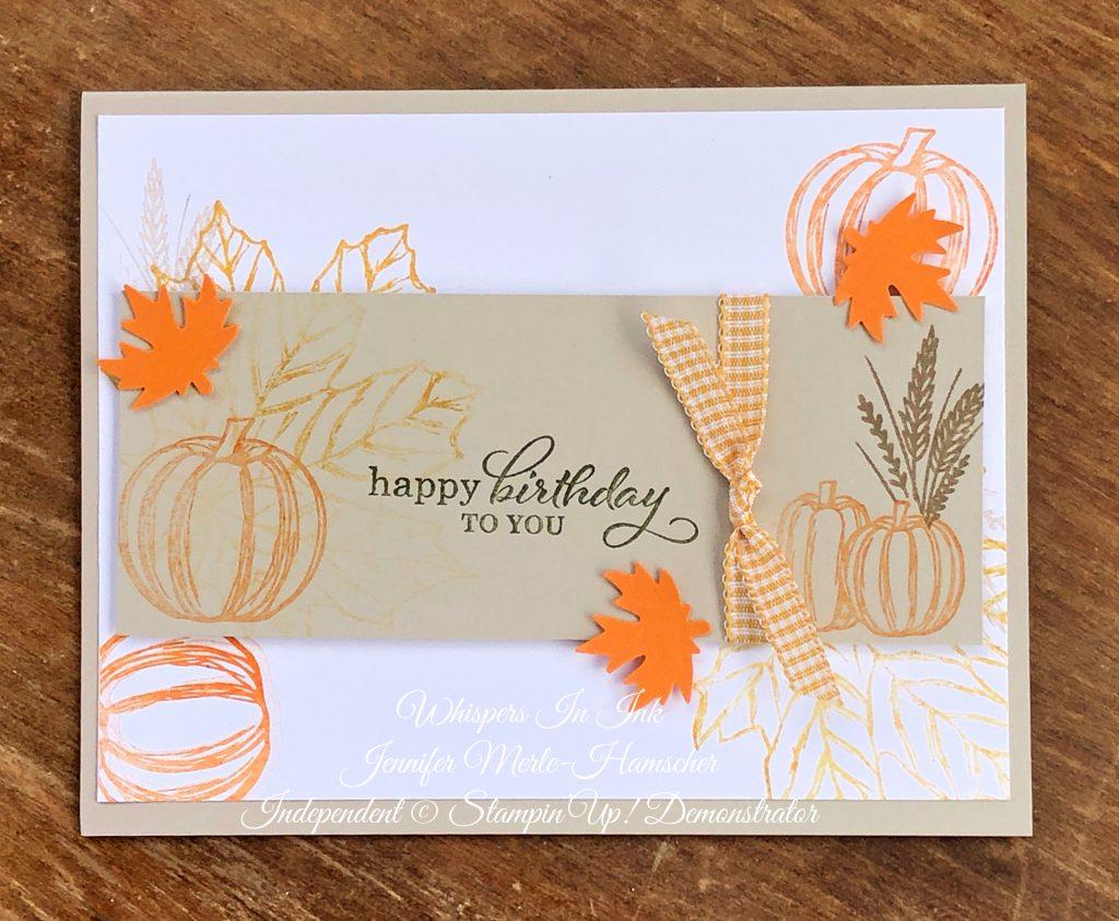 Fall Themed Brithday Card