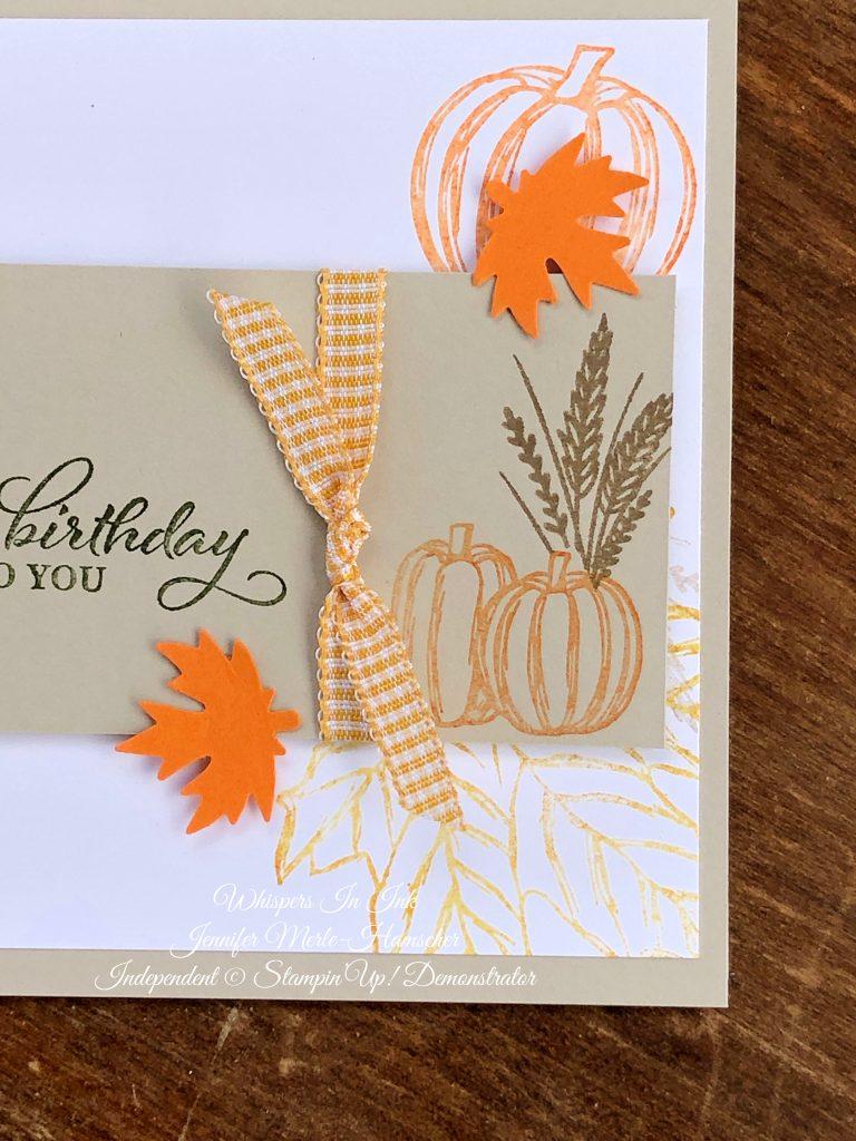 Fall themed Birthday Card