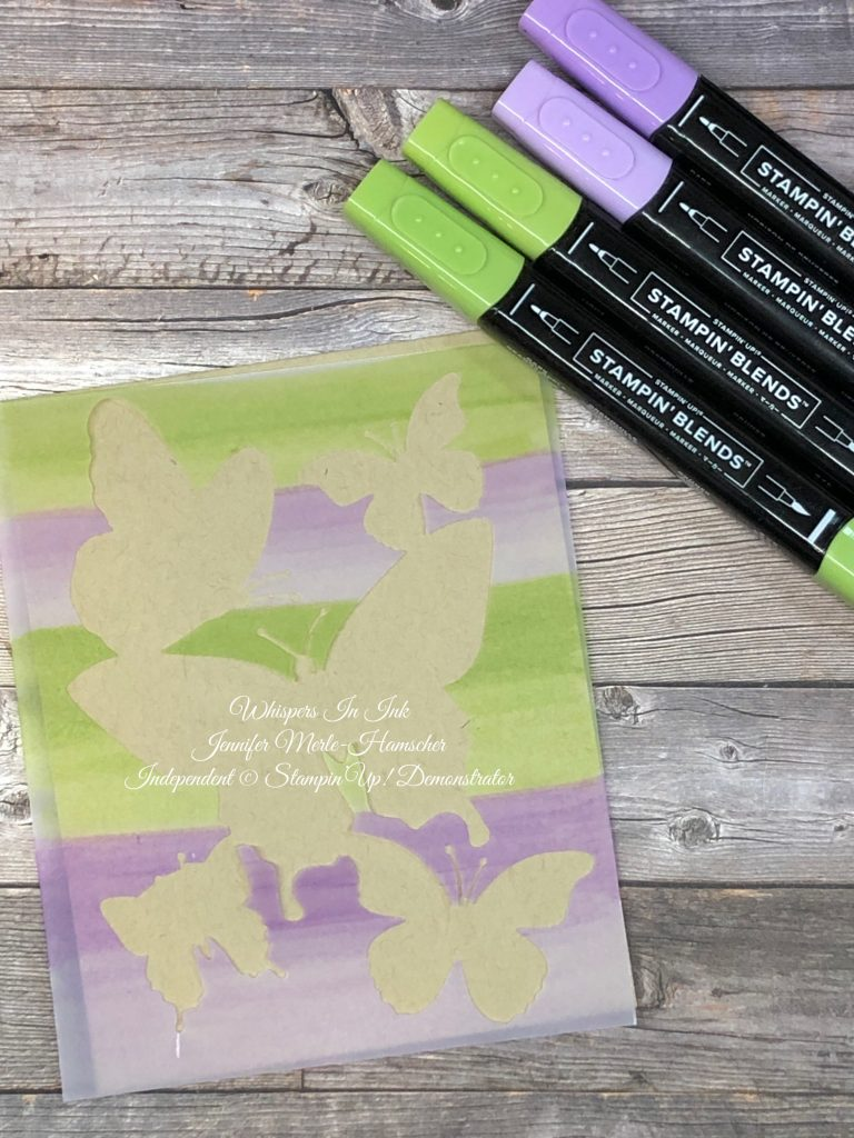 Stampin Blends and Vellum