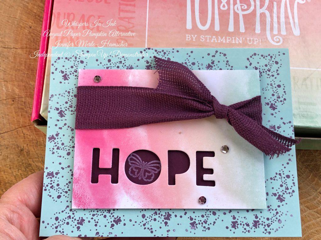 Hope Box Paper Pumpkin